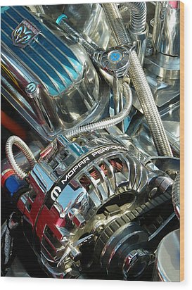 Mopar In Chrome Wood Print