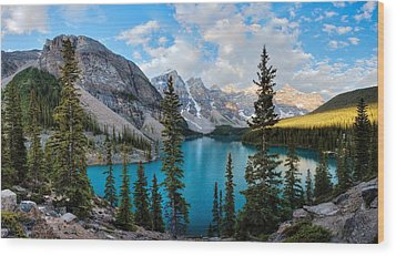 Moraine Wood Print by David Andersen