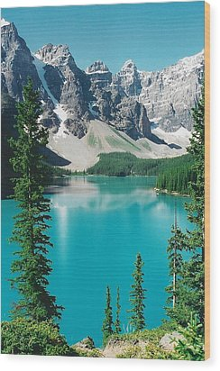 Moraine Lake 4 Wood Print by Shirley Sirois
