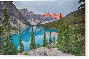 Moraine Lake Banff National Park Wood Print