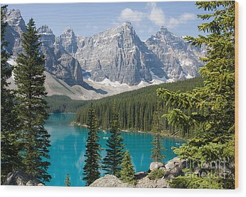 Wood Print featuring the photograph Moraine Lake by Chris Scroggins