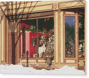 Moravian Book Shop Bethlehem Pa Wood Print by Jacqueline M Lewis