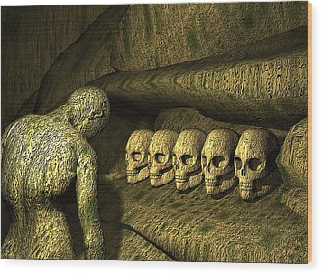 Wood Print featuring the digital art Morbid Vespers by John Alexander