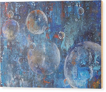 More Bubbles Wood Print by Nora Meyer