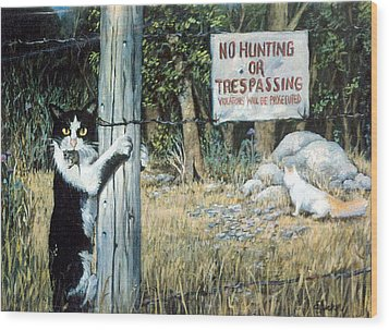Wood Print featuring the painting More Civil Disobedience by Donna Tucker