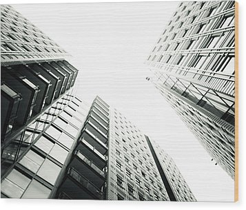 More Grids And Lines Wood Print by Lenny Carter