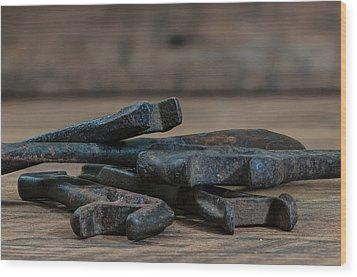 More Of Grandpa's Old Tools Wood Print