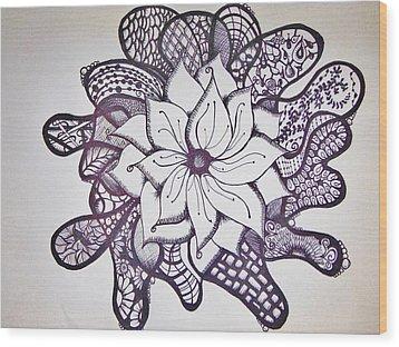 More Than A Flower Wood Print by Lori Thompson