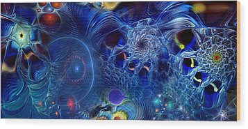 Wood Print featuring the digital art More Things In Heaven And Earth by Casey Kotas