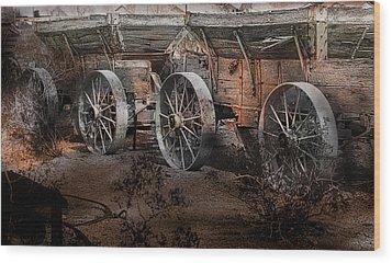 More Wagons East Wood Print