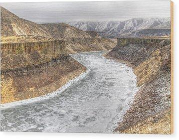 More's Creek Under Ice Wood Print