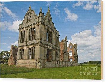 Moreton Corbet Castle 2 Wood Print by Sheila Laurens