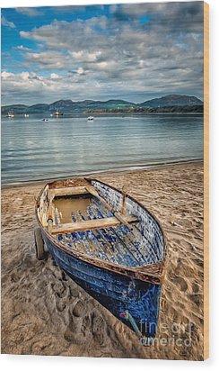 Morfa Nefyn Boat Wood Print