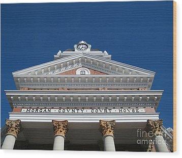 Morgan Cty Courthouse - Madison Ga Wood Print by Cheryl Hardt Art