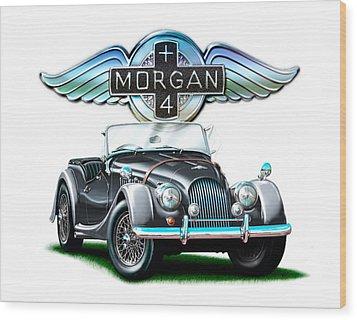 Morgan Plus 4 Blkgray Wood Print by David Kyte