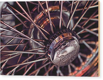 Morgan Wire Wheel Wood Print
