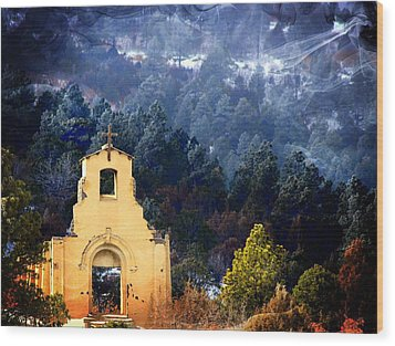 Morley Mission 1917 Colorado Wood Print by Barbara Chichester