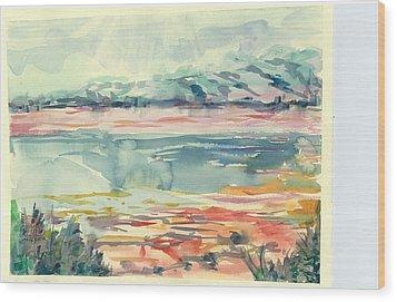 Mormon Lake Wood Print by Marilyn Miller