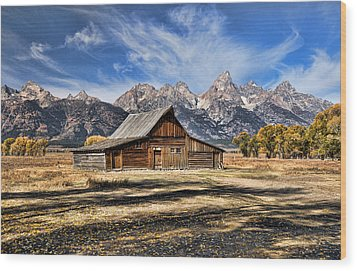 Mormon Row Barn Wood Print