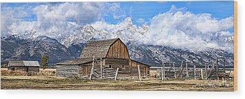 Mormon Row Wood Print