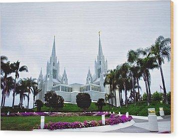 Mormon Temple La Jolla Wood Print