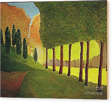 Chambord Morning By Bill O'connor Wood Print by Bill OConnor