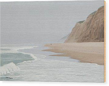 Morning At Pomponio 2 Wood Print