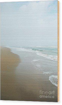 Morning At Sea Wood Print by Sharon Coty