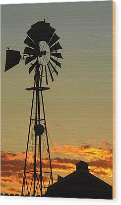 Morning At The Farm Wood Print