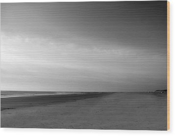 Wood Print featuring the photograph Morning At Tybee Island by Frank Bright