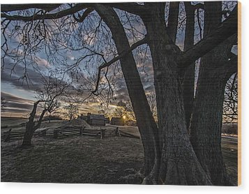 Morning At Valley Forge Wood Print by Jeff Oates Photography