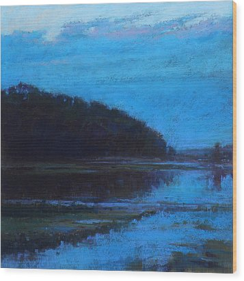 Morning Blues Wood Print by Ed Chesnovitch