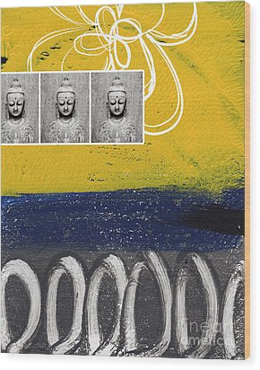 Morning Buddha Wood Print by Linda Woods