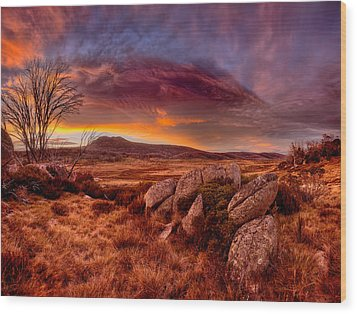 Morning Clouds Over Jugungal Wood Print by Robert Charity