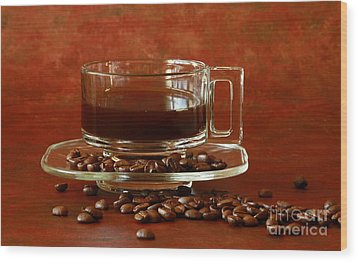 Morning Coffee Wood Print by Inspired Nature Photography Fine Art Photography