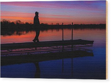 Wood Print featuring the photograph Morning Color Forest Lake Mn by RC Pics
