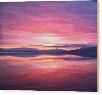 Morning Dawn Wood Print