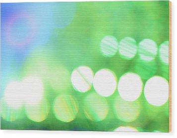 Morning Dew Wood Print by Dazzle Zazz