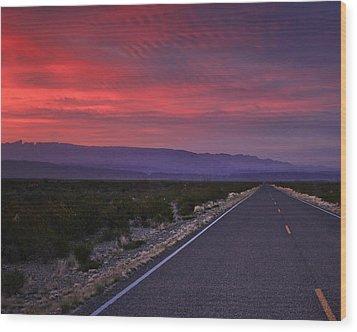 Morning Drive Wood Print