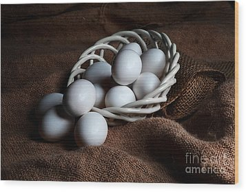 Morning Eggs Wood Print by Cecil Fuselier