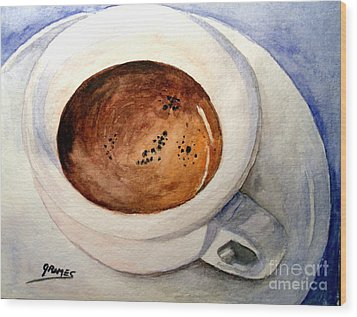Morning Espresso Wood Print by Carol Grimes