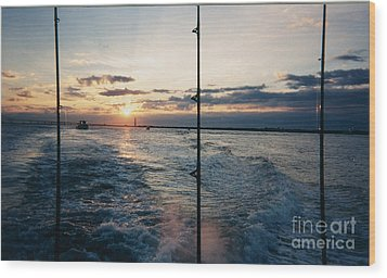 Wood Print featuring the photograph Morning Fishing by John Telfer
