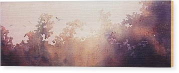 Wood Print featuring the painting Morning Flight by John  Svenson
