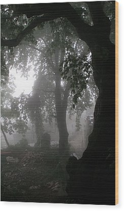 Morning Fog Wood Print by Arie Arik Chen