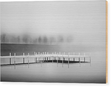 Wood Print featuring the photograph Morning Fog Burn-off by Greg Jackson