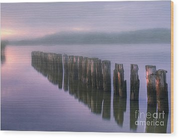 Morning Fog Wood Print by Veikko Suikkanen
