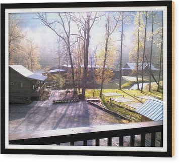 Wood Print featuring the digital art Morning Glory At Ironhorse Resort by Angelia Hodges Clay
