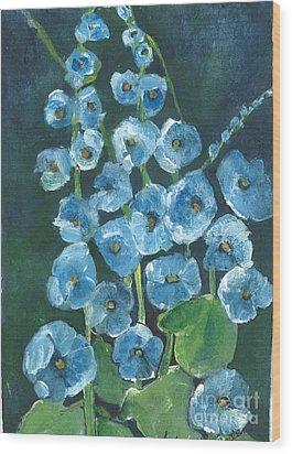 Morning Glory Greetings Wood Print by Sherry Harradence