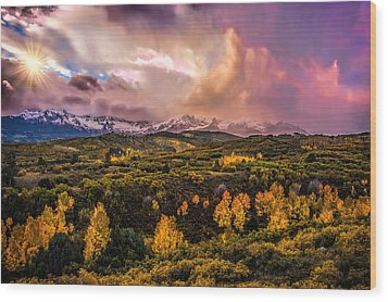 Wood Print featuring the photograph Morning Glory by Ken Smith