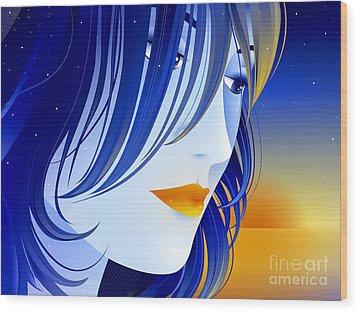 Morning Glory Wood Print by Sandra Hoefer